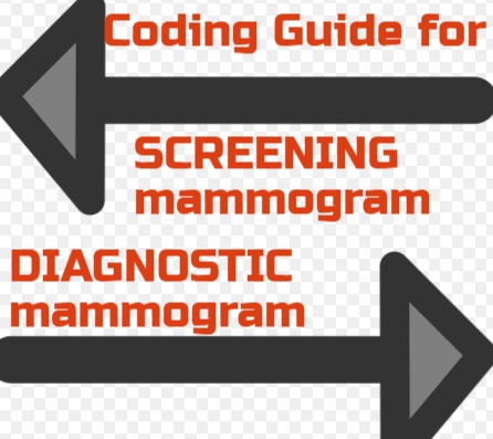 2018 Diagnostic Screening mammogram CPT code 77065,77066 & 77067