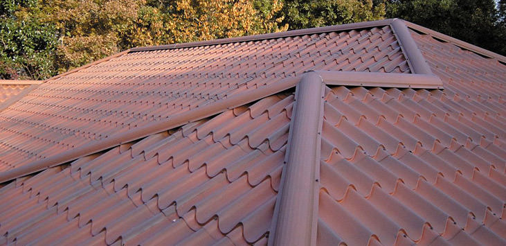 metal spanish tile roof in northern wi