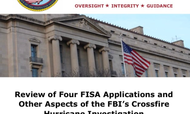 "OIG Report on ""Crossfire Hurricane"""