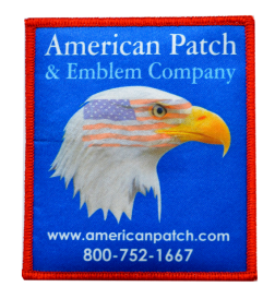 dye sublimated patches
