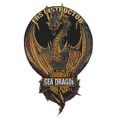 Navy Sea Dragon Patch