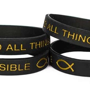 With God All Things Are Possible Silicone Bracelet