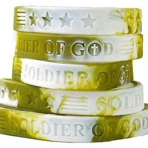Camouflage Soldier of God Silicone Bracelet