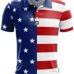 USA Flag Golf Polo