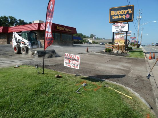 Cleaning Prior to Asphalt Overlay