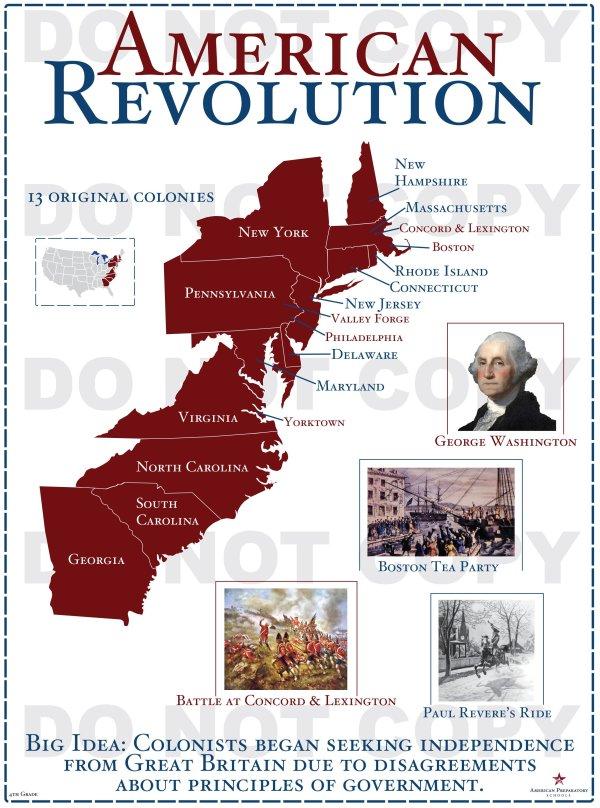 American Revolution – 4th Grade