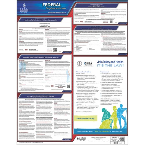 2019 federal labor law poster with fmla notice english poster part 37989