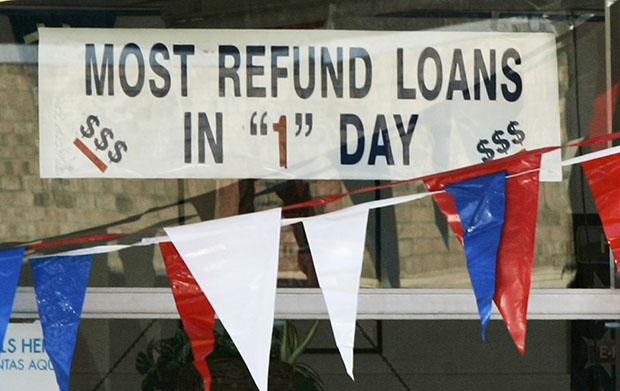 Instant tax refunds