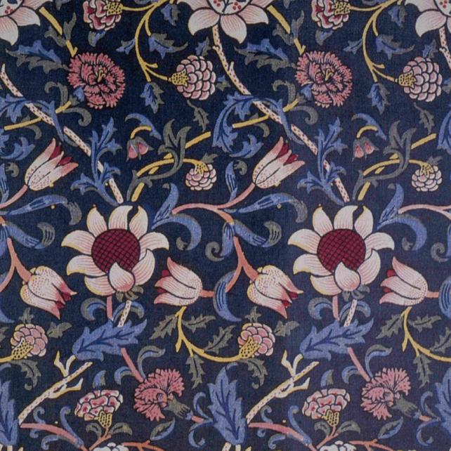 William Morris designs are influenced by nature and emphasize patterns.