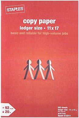 Staples Ledger Laser Inkjet Printer Paper Ream512211