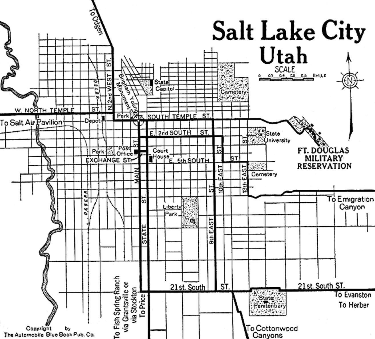 Utah City Maps At Americanroads