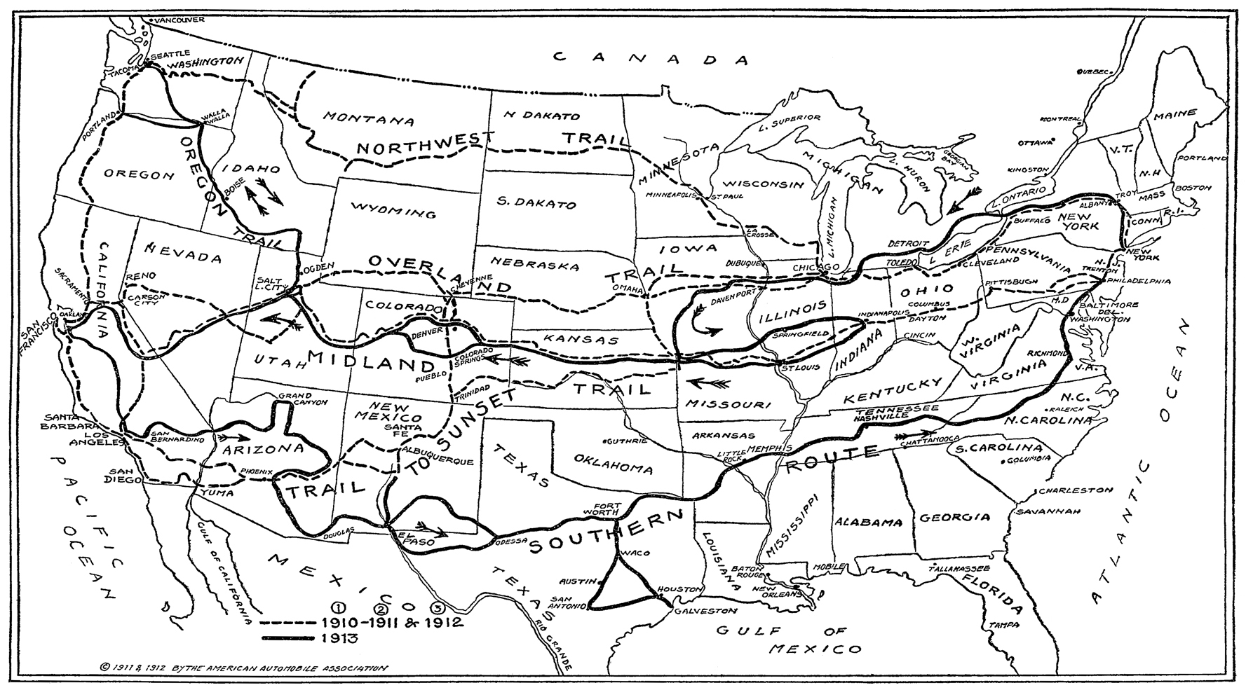 Early Us Map