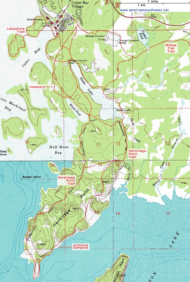 Springs Rock Utah Map