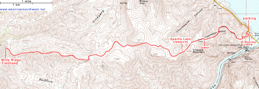 Map of the Vineyard Trail