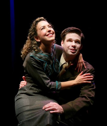 """""""1946"""" by Thomas Hagemann, at Main Street Theater in Houston, through April 17. Pictured: Lisa Wartenberg and Scott Gibbs. (Photo by Forest Photography)"""