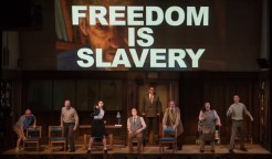 """""""1984"""" adapted by Robert Icke and Duncan Macmillan from George Orwell, at American Repertory Theater in Cambridge, Mass., through March 6."""