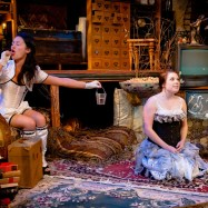 "Kathryn Fumie and Adelin Phelps in ""An Outopia for Pigeons"" at Swandive Theatre. (Photo by Joan Banick)"