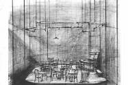 """""""The Iceman Cometh,"""" Arena Stage, 1968, sketch"""