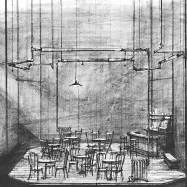 """The Iceman Cometh,"" Arena Stage, 1968, sketch"
