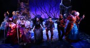 """The cast of """"Into the Woods"""" at Lyric Stage in Boston. (Photo by Mark S. Howard)"""