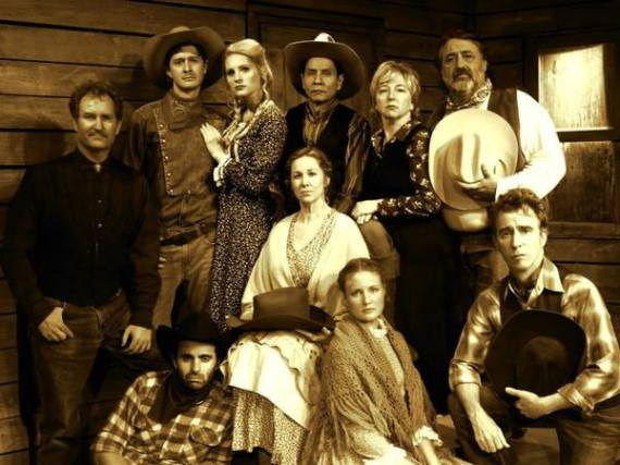 The cast of Impro Theatre's THE WESTERN UNSCRIPTED, running at the The Falcon Theatre in Burbank, Ca. through Oct. 5