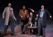 """Dustin Bronson, John Arp, Graham Ward, Caitlin Wise and Patrick Du Laney in """"Around the World in 80 Days"""" at Creede Repertory Theatre."""
