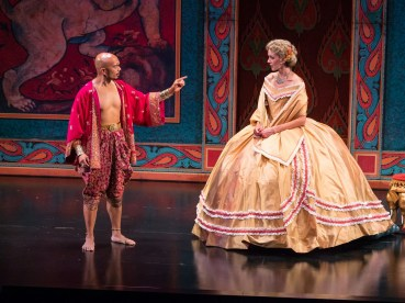 """The King and I,"" running at the ZACH Theatre in Austin through Oct. 18; with Mel Sagrado Maghuyop and Jill Blackwell (photo by Kirk Tuck)"