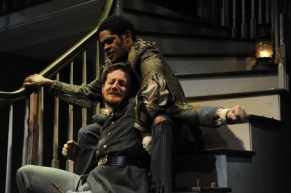 "Laurence Curry and in ""The Whipping Man"" by Matthew Lopez at Curious Theatre Company. (Photo by Michael Ensminger)"