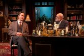"""""""Freud's Last Session"""" by Mark St. Germain, at North Coast Repertory in Solana Beach, Ca. through Nov. 16; pictured: Bruce Turk and Michael Santo (photo by Aaron Rumley)"""