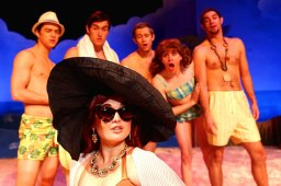 """""""Psycho Beach Party"""" by Charles Busch, at Theatreworks in Colorado Springs, Colo. through Nov. 9; pictured: Jessica Parnello and cast (photo by Isaiah J. Downing)"""