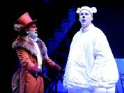 """""""Christmas Is Here Again"""" by Renegade Animation, at PCPA/Pacific Conservatory Theatre through Dec. 24. Pictured: George Walker and Erik Stein. (Photo by Luis Escobar)"""