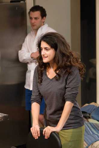 """""""Bad Jews"""" by Joshua Harmon, at the Walnut Street Theatre in Philadelphia through Dec. 28; pictured: Sofie Yavorsky and Greg Fallick (photo by Mark Garvin)"""