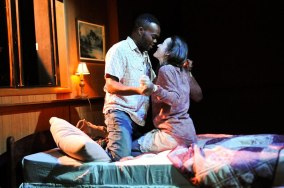 """You Got Older"" by Clare Barron, a Page 73 production at HERE Arts Center in New York City in 2015. Pictured: William Jackson Harper and Brooke Bloom."