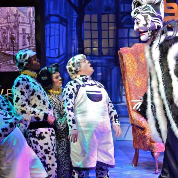"""101 Dalmatians,"" coproduced by Imagination Stage and Children's Theatre of Charlotte in 2015. (Photo by Donna Bise)"