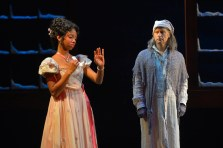 """""""A Christmas Carol,"""" adapted by Carey Perloff and Paul Walsh, at American Conservatory Theater in San Francisco through Dec. 28. Pictured: Stefanée Martin and Anthony Fusco. (Photo by Kevin Berne)"""