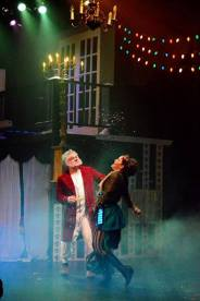"""""""A Christmas Carol,"""" adapted by Patrick Barlow, at Trustus Theatre in Columbia, S.C. through Dec. 20. Pictured: Stann Gywnn and Catherine Hunsinger."""