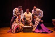 """A Civil War Christmas"" by Paula Vogel, at Dobama Theatre in Cleveland Heights, Oh., through Jan. 4. Pictured: Nathan A. Lilly, Katrice Headd, Vincent Briley, Lashawn Little and Nicole Sumlin."