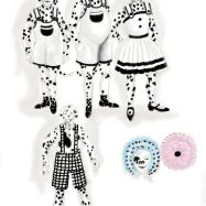 Connie Furr Soloman's costume sketches for the Dalmatian puppies.