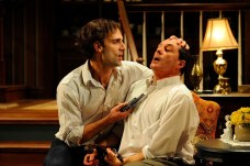 """Deathtrap"" by Ira Levin, at the Everyman Theatre in Baltimore. Pictured: Danny Gavigan and Bruce Randolph Nelson. (Photo by ClintonBPhotography)"
