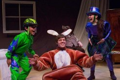 """""""The Velveteen Rabbit,"""" adapted by James Still from the story by Margery Williams, at Indiana Repertory Theatre in Indianapolis through Dec. 21. Pictured: Ethan H. Holder, Tyler Ostrander and Zoe Turner."""