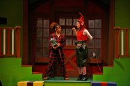 """""""'Twas the Night Before Christmas"""" by Ken Ludwig, at Bloomsburg Theatre Ensemble in Bloomsburg, Pa. through Dec. 28. Pictured: Amber Williams and Elizabeth Dowd. (Photo by Bob Rush)"""