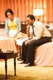 """""""The Mountaintop"""" by Katori Hall, a production of the Actors Theatre of Louisville in Louisville, K.Y. in October, 2013. Pictured: Dominique Morisseau and Larry Powell. (Photo by Bill Brymer)"""