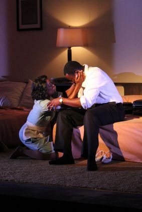"""The Mountaintop"" by Katori Hall, a production of the Gulfshore Playhouse running in Naples, Fla., in 2014. Pictured: Felicia Curry and Jamil A.C. Mangan. (Photo by Pedro Zepeda)"