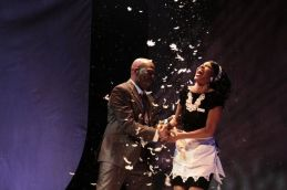 """""""The Mountaintop"""" by Katori Hall, a production of San Diego Repertory Playhouse in San Diego, Calif., in 2013. Pictured: Danielle Truitt and Danielle Moné Truitt."""