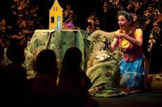 """""""The Biggest Little House in the Forest,"""" adapted by Rosanna Staffa from the book by Djemma Bider, at Children's Theatre Company in Minneapolis through Mar. 15. Pictured: Autumn Ness. (Photo by Dan Norman)"""