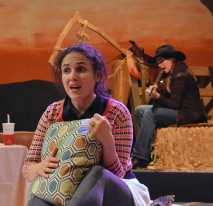 """""""Late: A Cowboy Song"""" by Sarah Ruhl, at Custom Made Theatre Co. in San Francisco through Feb. 1. Pictured: Maria Leigh and Red Lauren Preston. (Photo by Jay Yamada)"""