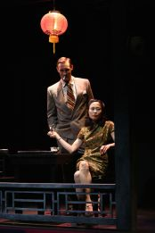 """Film Chinois"" by Damon Chua, a Pan Asian Repertory Theatre production at the Beckett Theatre in New York City through Feb. 8. Pictured: Benjamin Jones and Rosanne Ma. (Photos by John Quincy Lee)"