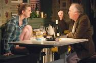 """""""I'm Gonna Pray for You So Hard"""" by Halley Feiffer, at Atlantic Theater Company in New York City through Feb. 8. Pictured: Betty Gilpin and Reed Birney. (Photo by Ahron R. Foster)"""