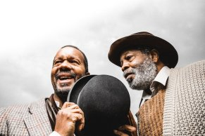 """Waiting for Godot"" by Samuel Beckett, at the Court Theatre in Chicago through Feb. 15. Pictured: Allen Gilmore and Alfred H. Wilson. (Photo by Joe Mazza/Brave Lux Inc.)"