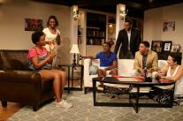"""Stick Fly"" by Lydia Diamond, at Actors Theatre of Charlotte in Charlotte, N.C., through Mar. 7. Pictured: Douglas Welton, Jeremy DeCarlos, Rahsheem Shabaz, Reneé Welsh-Noel, Brandi Feemster, Moriah Thomason."